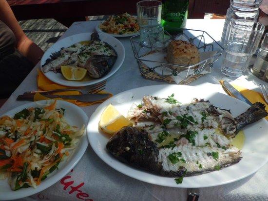 Esperida Hotel: Orata con insalatina
