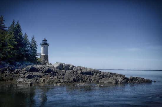 The Keeper's House: The lighthouse, seen from the boat landing.