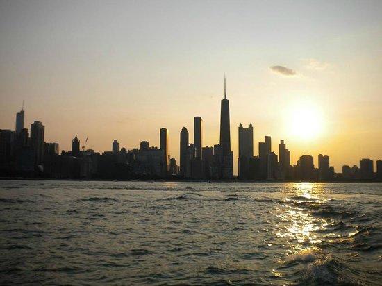 Mercury, Chicago's Skyline Cruiseline: Chicago Skyline at sunset from Lake Michigan