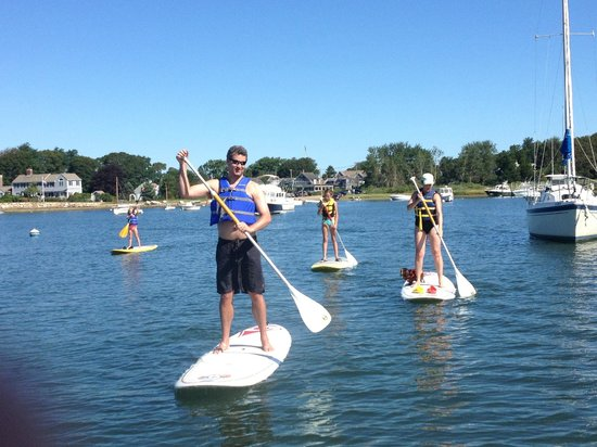 Stand Up & Paddle Cape Cod: padding with our little dog