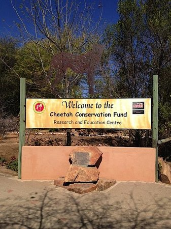 Cheetah Conservation Fund: Welcome sign