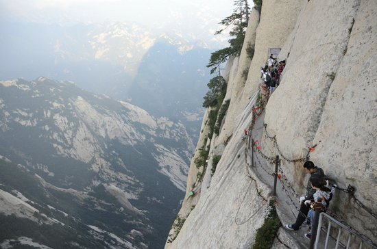 Mount Huashan: entrance to the plank walk