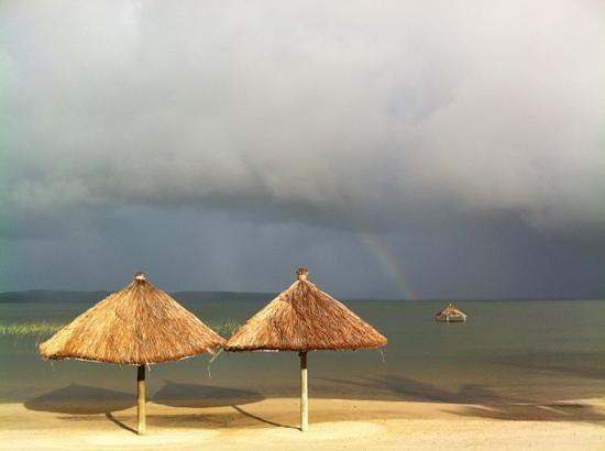 la spiaggia del Lagoa Poelela Resort