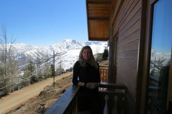 Chalet Valluga: Vista de uma das sacadas do hotel