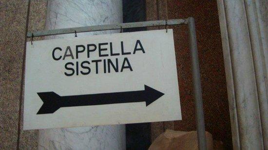 Vatican: entrance to sistine chapel