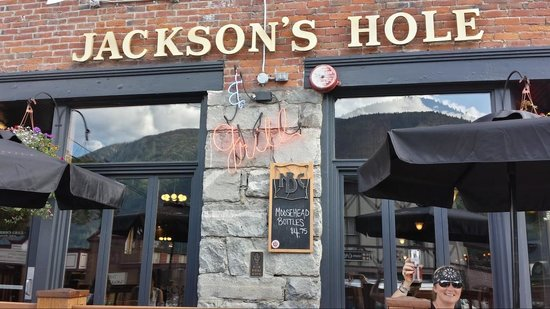 Jackson's Hole & Grill : On the patio......