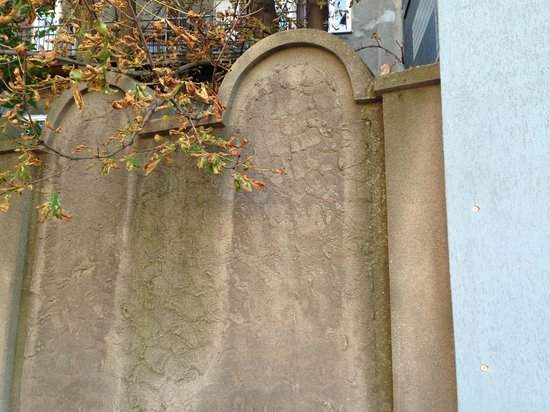 Krakow Bike Tour: Ghetto wall mimics Jewish grave stones