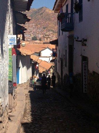 Casa San Blas Boutique: View from Hotel Entrance