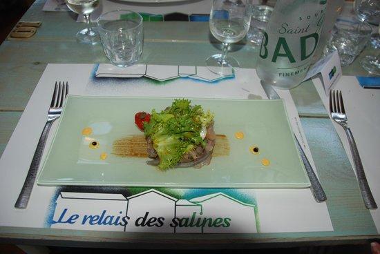 Le Relais des Salines : Entrée - Tartare de sardines et mulets noirs
