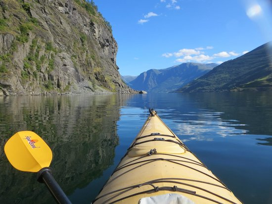 Njord - Seakayak and Wilderness Adventure Day Tours: view from the front of my kayak