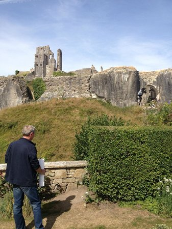 Corfe Castle: another view of castle