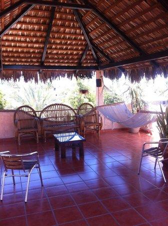 Posada LunaSol Hotel: palapa rooftop