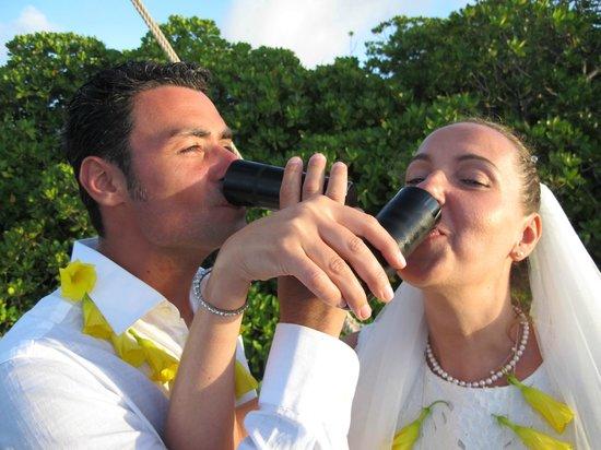 Banana House & Wellness Centre: Marriage toast
