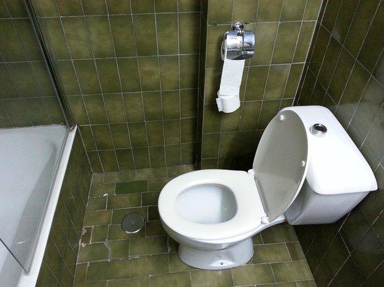 Apartamentos Nucleo Cristal : De (vies gekleurde) badkamer