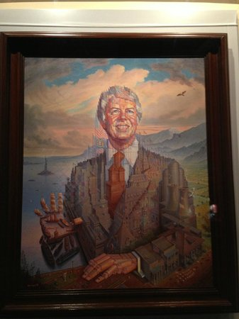 Jimmy Carter Library & Museum: Presidential Portrait by Octavio Ocampo 1979