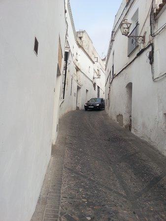 Parador Arcos de la Frontera: leaving the hotel