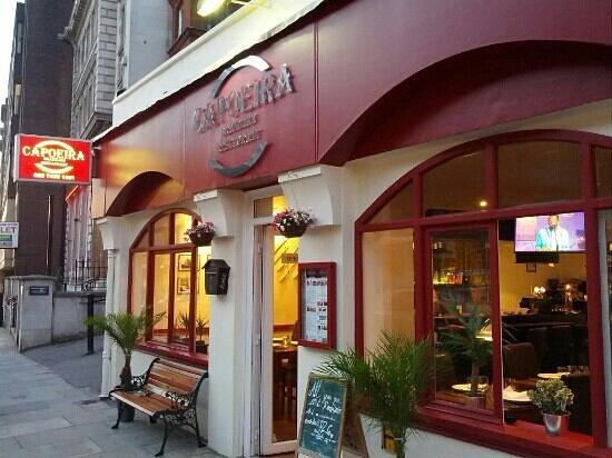 Capoeira Brazilian Restaurant: sidewalk view