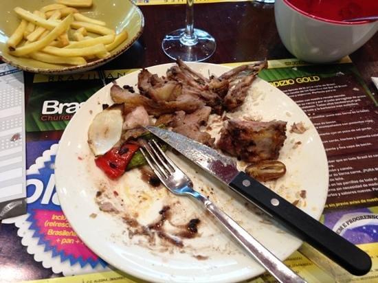 Brasayleña CC Marineda: el plato después de comer