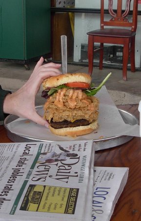 Tucker Duke's: I can't even get my hands on this burger!!