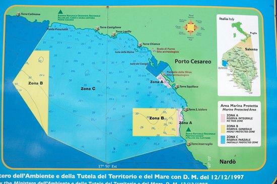 Porto Cesareo Puglia Cartina.Mappa Del Litorale Foto Di Torre Di San Tommaso Torre Lapillo Tripadvisor