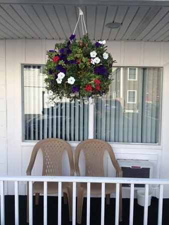 Seaside Colony Motel: Welcoming Flowers