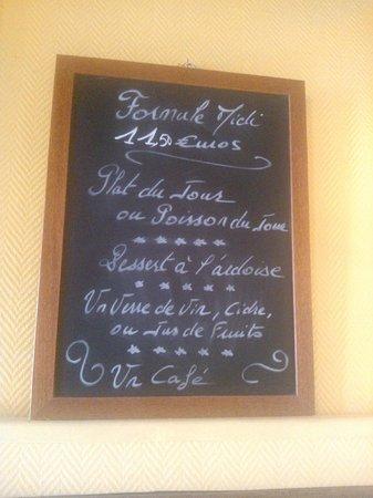 L'Assiette Normande: Menù del giorno
