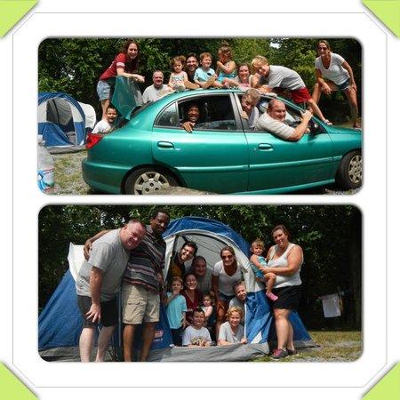 Hersheypark Camping Resort: One car one tent.  LOL