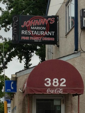 Johnny's Marion Restaurant: Sign