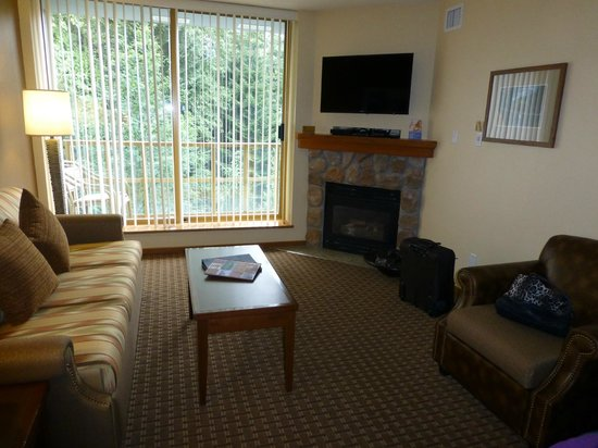 Whistler Cascade Lodge : Living area with sofa bed