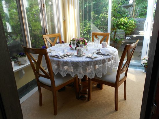 Blue Willow Guest House: Cozy breakfast for two