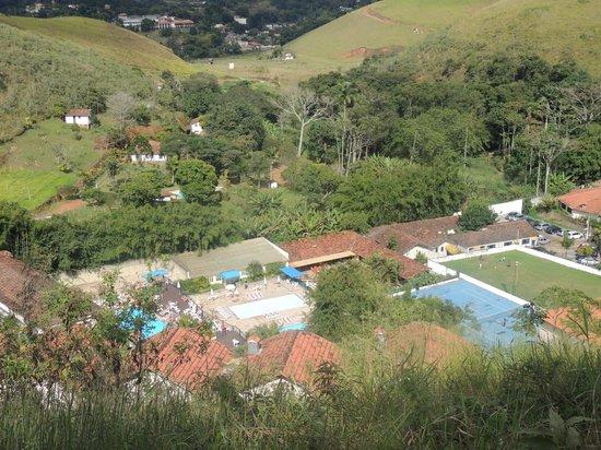 Hotel Fazenda Montanhes: vista do alto