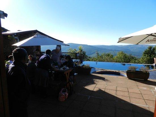 Misty Mountain : Breakfast verandah and pool