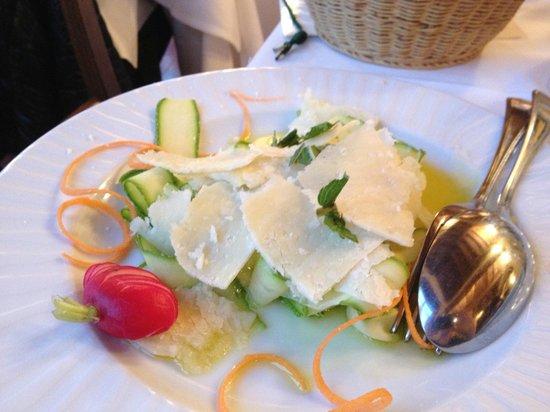 Trattoria Omero: fresh zucchini with pecorino!