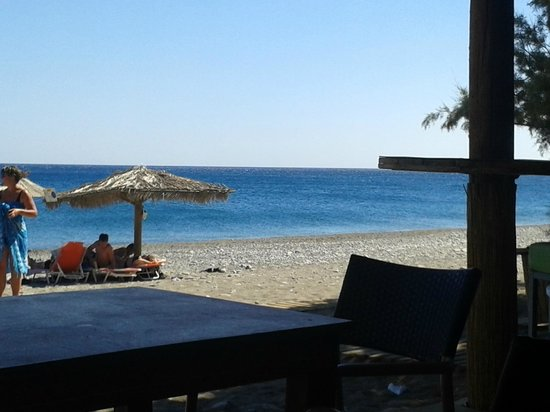 Megim Hotel: View from the beach Snack-bar