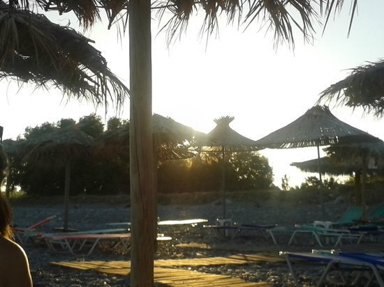 Megim Hotel: Sunset at the beach