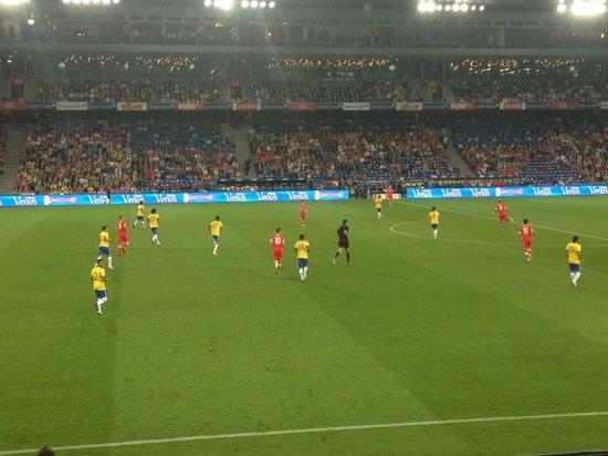Stadion St Jakobpark: Schwizz x Brazil