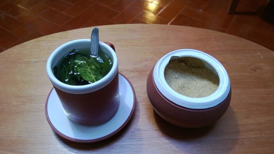 B&B-Hotel Pension Alemana: Coca tea provided at the time of check-in.
