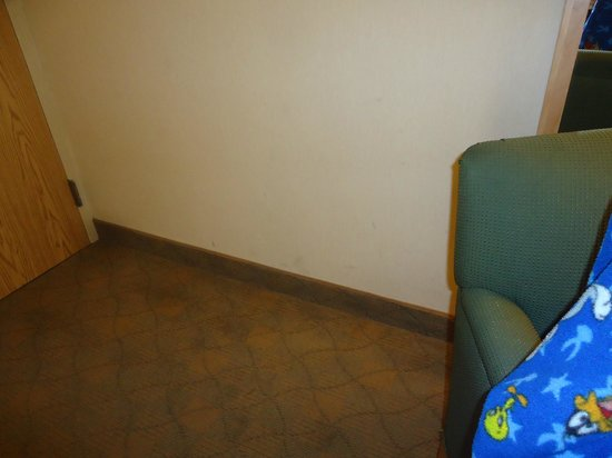 Travelodge Hotel Saskatoon: Room - 2 Dirty smudged walls.  Doesn't housekeepin see this??