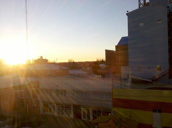 Hotel Santa Cruz: a las 9 de la mañana desde la ventana