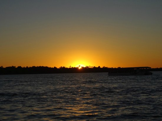 Zambezi River: The sunset over the river