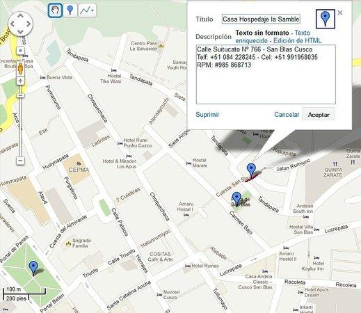 Casa La Samblena: mapa de ubicacion