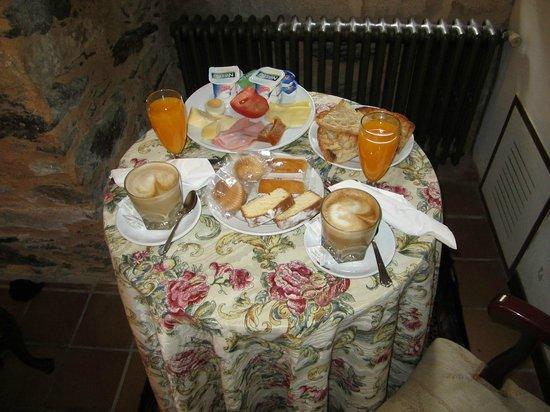 Pazo do Souto: desayuno en la habitación