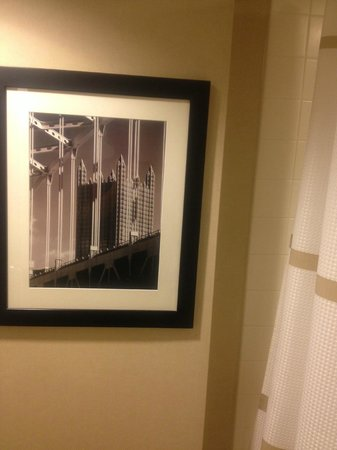 Pittsburgh Airport Marriott: This Pittsburgh photo was in the bathroom!
