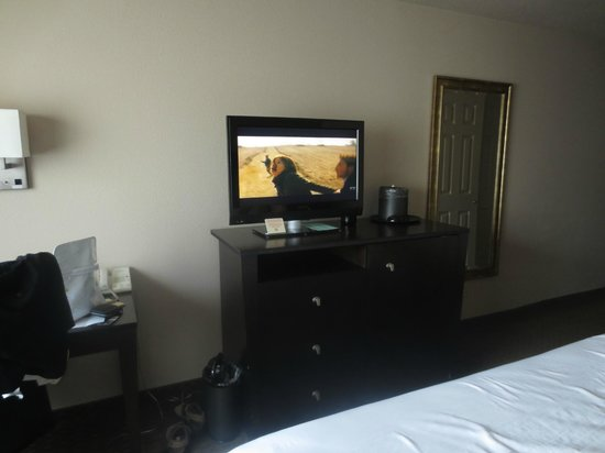 Monarch Hotel and Conference Center: Bedroom - tv was kind of small