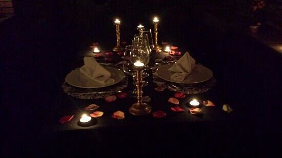 Hotel Restaurante Cal Teixido: Cena Romantica
