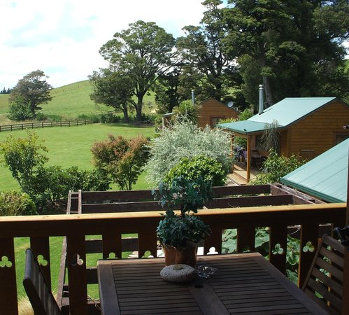 The River Lodge: View from upper lodge deck to river