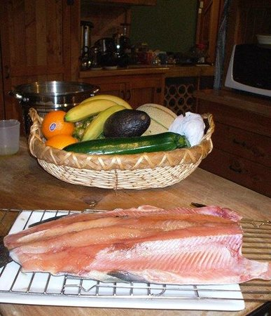 The River Lodge: Preparing trout for smoking