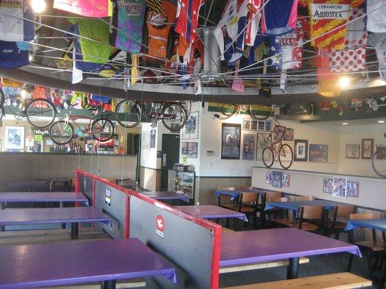 Bortolami's Pizzeria: Bicycling Themed Dining Room