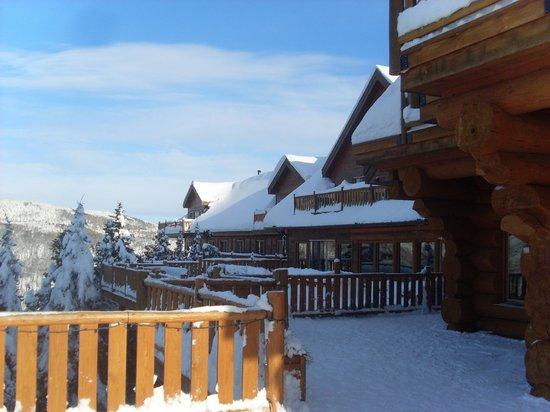 Hotel Sacacomie: vue côté lac
