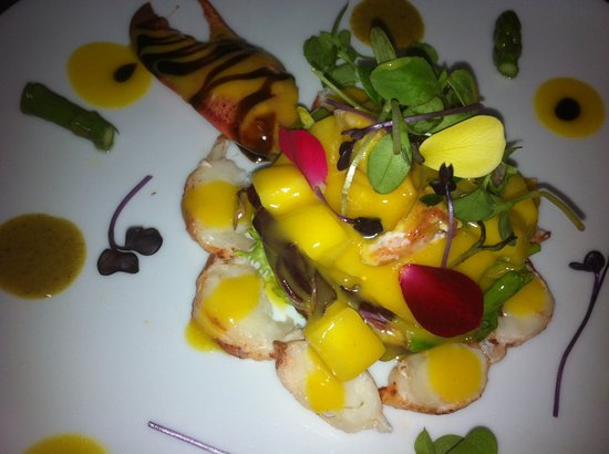 San Pedro de Alcantara, Ισπανία: Ensalada de bogavante con vinagreta de mango